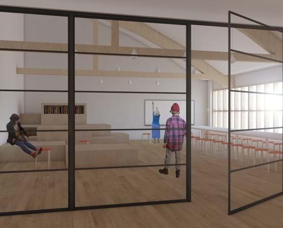 Illustration af nyt kunstcenter CC Studio billede 2
