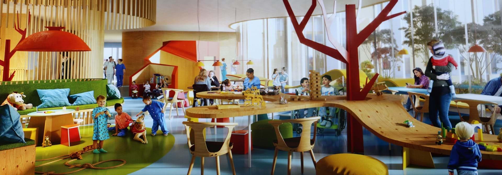 BørneRiget set indefra som arkitekttegning